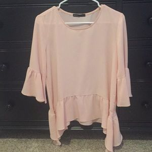 Light pink top